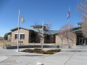 Cherry Hills Library in Albuquerque, where Spencer does most of his writing, and has five books checked out at the moment.
